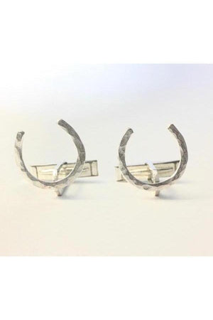 Personalized Horseshoe Cufflinks-Jewelry-JenCervelli-NO-Three Wild Horses