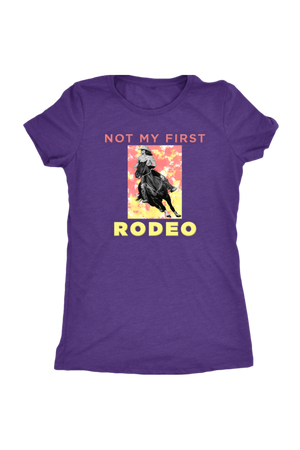 Not My First Rodeo Horse Shirt-T-shirt-teelaunch-Womens Triblend-Purple Rush-S-Three Wild Horses