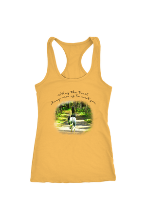 The Trail Always Rise - Tops-T-shirt-teelaunch-Racerback Tank-Banana Cream-S-Three Wild Horses