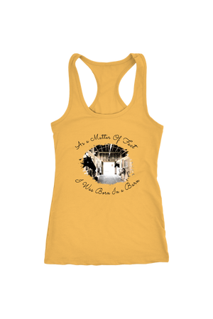 Born In A Barn - Tops-T-shirt-teelaunch-Racerback Tank-Banana Cream-S-Three Wild Horses