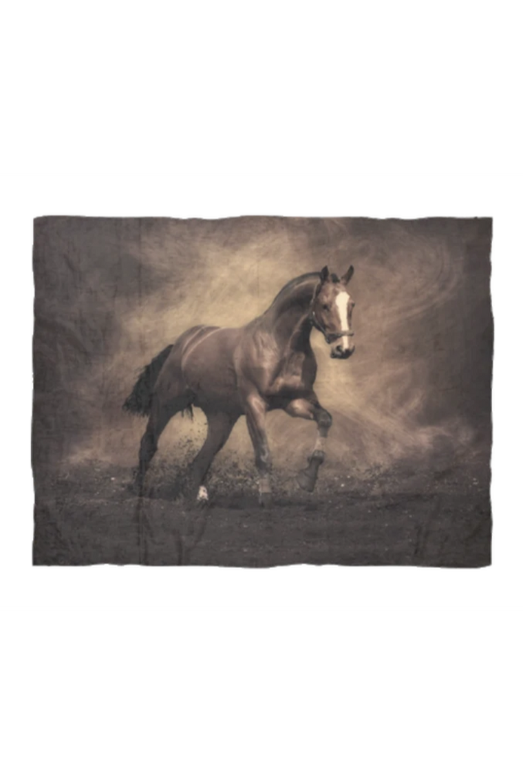 Horse and Dirt - Fleece Blanket