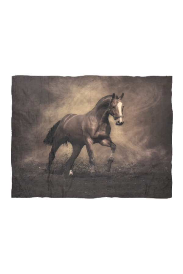 Horse and Dirt - Fleece Blanket-Blankets-teelaunch-Small-Three Wild Horses