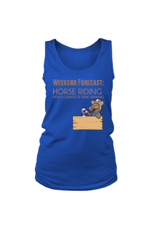 Weekend Forecast - Tank Tops-Tops-teelaunch-Royal Blue-S-Three Wild Horses