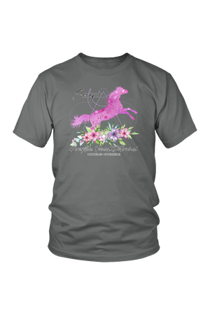 Scorpio Horse Unisex Shirt-T-shirt-teelaunch-District Unisex Shirt-Grey-S-Three Wild Horses