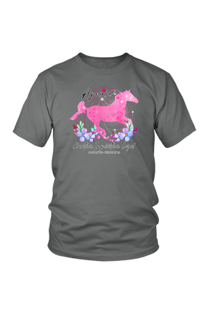 Aquarius Zodiac Horse Unisex Shirt-T-shirt-teelaunch-District Unisex Shirt-Grey-S-Three Wild Horses