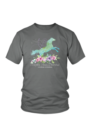 Scorpio Horse Unisex Short-T-shirt-teelaunch-District Unisex Shirt-Grey-S-Three Wild Horses