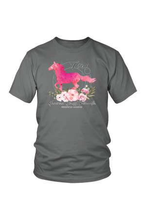 Pisces Horse Unisex Shirt-T-shirt-teelaunch-District Unisex Shirt-Grey-S-Three Wild Horses
