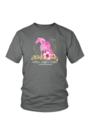 Virgo Horse Unisex Shirt-T-shirt-teelaunch-District Unisex Shirt-Grey-S-Three Wild Horses