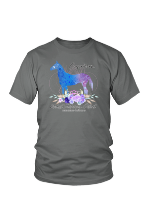 Capricorn Horse Unisex Shirt-T-shirt-teelaunch-District Unisex Shirt-Grey-S-Three Wild Horses
