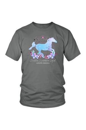 Aquarius Horse Unisex Shirt-T-shirt-teelaunch-District Unisex Shirt-Grey-S-Three Wild Horses