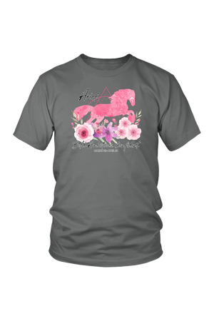 Aries Horse Unisex Shirt-T-shirt-teelaunch-District Unisex Shirt-Grey-S-Three Wild Horses