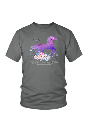 Libra Horse Unisex Shirt-T-shirt-teelaunch-District Unisex Shirt-Grey-S-Three Wild Horses