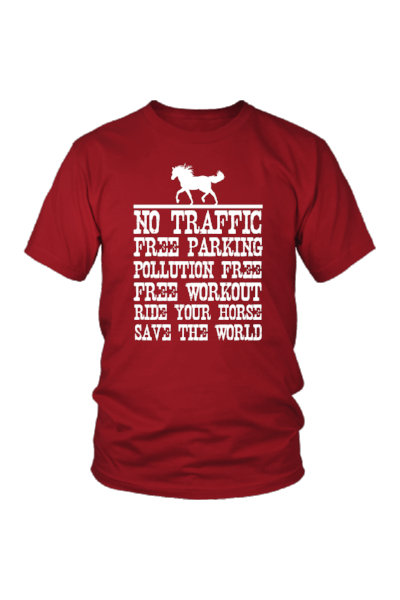 Ride Your Horse, Save the World - Tops-Tops-teelaunch-Unisex Tee-Red-S-Three Wild Horses