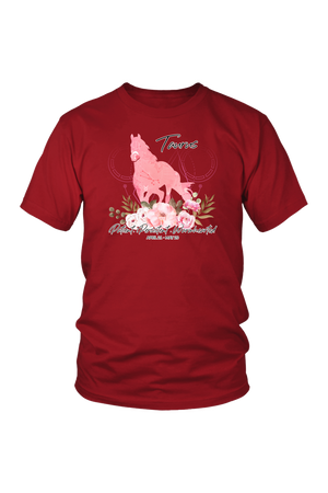 Taurus Horse Unisex Shirt-T-shirt-teelaunch-District Unisex Shirt-Red-S-Three Wild Horses