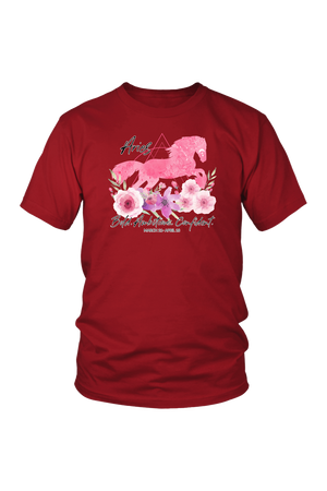 Aries Horse Unisex Shirt-T-shirt-teelaunch-District Unisex Shirt-Red-S-Three Wild Horses
