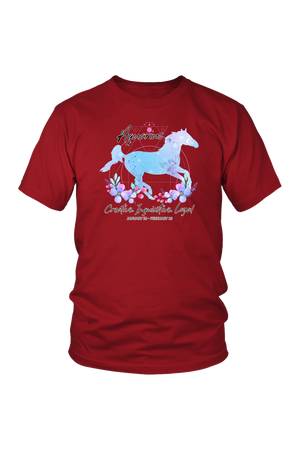 Aquarius Horse Unisex Shirt-T-shirt-teelaunch-District Unisex Shirt-Red-S-Three Wild Horses