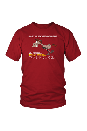 photos-T-shirt-teelaunch-District Unisex Shirt-Red-S-Three Wild Horses