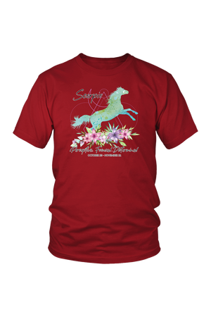 Scorpio Horse Unisex Short-T-shirt-teelaunch-District Unisex Shirt-Red-S-Three Wild Horses