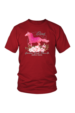 Pisces Horse Unisex Shirt-T-shirt-teelaunch-District Unisex Shirt-Red-S-Three Wild Horses