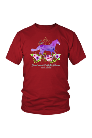 Leo Horse Unisex Shirt-T-shirt-teelaunch-District Unisex Shirt-Red-S-Three Wild Horses