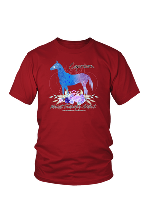 Capricorn Horse Unisex Shirt-T-shirt-teelaunch-District Unisex Shirt-Red-S-Three Wild Horses