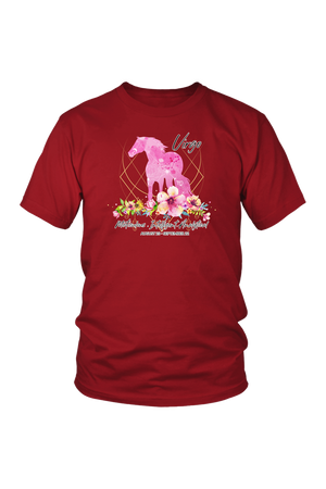 Virgo Horse Unisex Shirt-T-shirt-teelaunch-District Unisex Shirt-Red-S-Three Wild Horses