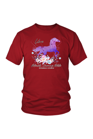 Libra Horse Unisex Shirt-T-shirt-teelaunch-District Unisex Shirt-Red-S-Three Wild Horses