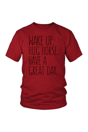 Brown Hug Horse Have A Great Day Horse T-Shirt