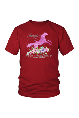 Scorpio Horse Unisex Shirt-T-shirt-teelaunch-District Unisex Shirt-Red-S-Three Wild Horses