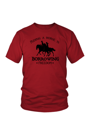 Brown Riding A Horse - Borrowing Freedom T-Shirt
