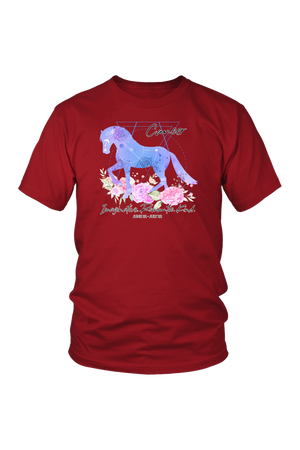 Cancer Horse Unisex Shirt-T-shirt-teelaunch-District Unisex Shirt-Red-S-Three Wild Horses