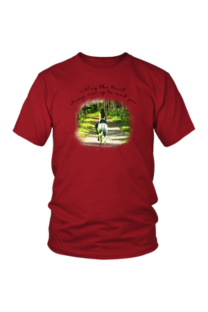 The Trail Always Rise - Tops-T-shirt-teelaunch-Unisex Tee-Red-S-Three Wild Horses