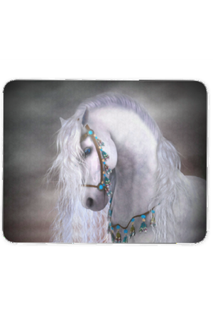 Elegant White Horse - Mouse Pad-Mousepads-teelaunch-Mouse pad-Three Wild Horses
