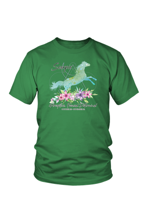 Scorpio Horse Unisex Short-T-shirt-teelaunch-District Unisex Shirt-Kelly Green-S-Three Wild Horses