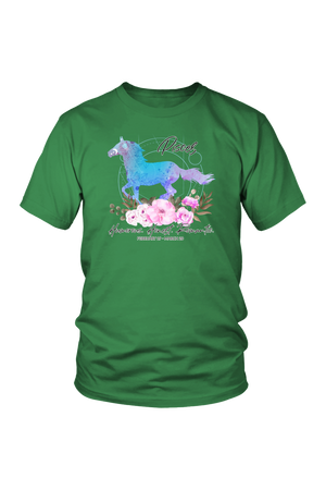 Pisces Horse Unisex Shirt-T-shirt-teelaunch-District Unisex Shirt-Kelly Green-S-Three Wild Horses