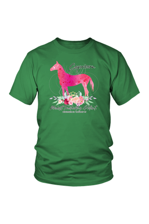 Capricorn Horse Unisex Shirt-T-shirt-teelaunch-District Unisex Shirt-Kelly Green-S-Three Wild Horses