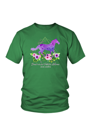 Leo Horse Unisex Shirt-T-shirt-teelaunch-District Unisex Shirt-Kelly Green-S-Three Wild Horses