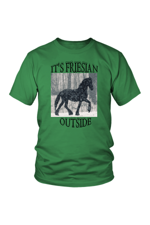 Sea Green It's Friesian Outside T-Shirt