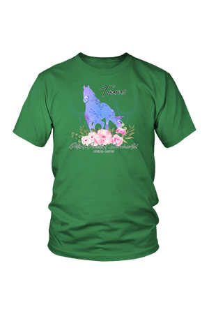 Taurus Horse Unisex Shirt-T-shirt-teelaunch-District Unisex Shirt-Kelly Green-S-Three Wild Horses