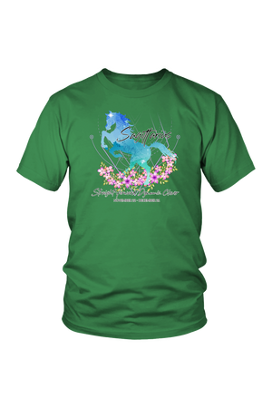 Sagittarius Horse Unisex Shirt-T-shirt-teelaunch-District Unisex Shirt-Kelly Green-S-Three Wild Horses