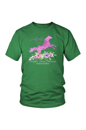 Scorpio Horse Unisex Shirt-T-shirt-teelaunch-District Unisex Shirt-Kelly Green-S-Three Wild Horses