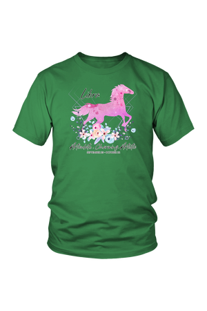 Libra Horse Unisex Shirt-T-shirt-teelaunch-District Unisex Shirt-Kelly Green-S-Three Wild Horses