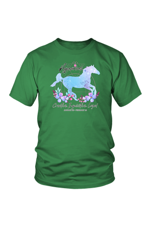Aquarius Horse Unisex Shirt-T-shirt-teelaunch-District Unisex Shirt-Kelly Green-S-Three Wild Horses