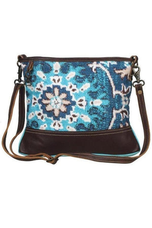 Cadet Blue Magic Aqua Small Cross Body Bag