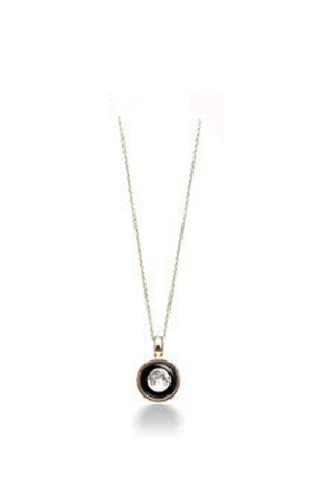 White Smoke Sky Light Moon Phase Necklace Gold or Silver