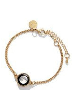 Tan Moon Phase Gold Plated Pallene Bracelet