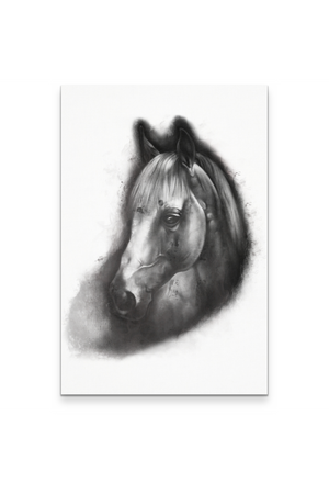 "The Horse Portrait - Canvas-Wall Art-teelaunch-White-24"" x 36""-Three Wild Horses"