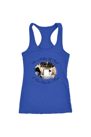 Born In A Barn - Tops-T-shirt-teelaunch-Racerback Tank-Royal-S-Three Wild Horses