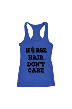 Dark Slate Blue Horse Hair Don't Care T-Shirt