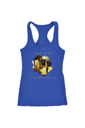 I Was Not Born In The Barn Tops-T-shirt-teelaunch-Racerback Tank-Royal-S-Three Wild Horses